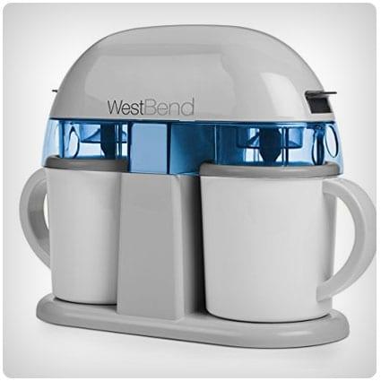 West Bend Dual Single Serve Ice Cream Machine