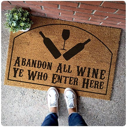 Abandon Wine All Ye Who Enter Here Doormat