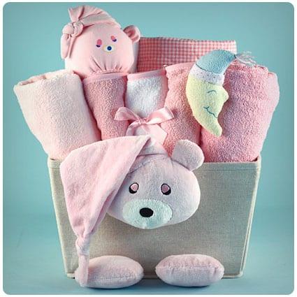 Bear Plush Baby Gift Basket
