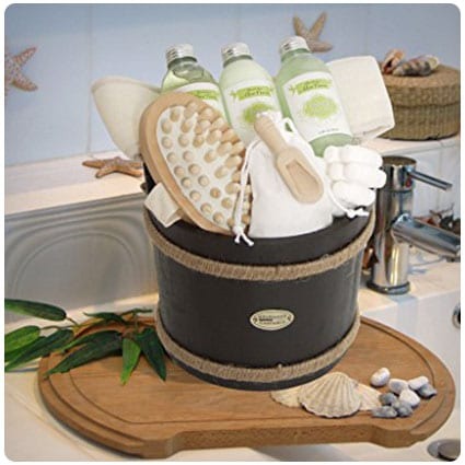 Brubaker Wooden Spa Bath Gift Basket