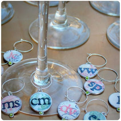 Easy DIY Personalized Bunco Wine Charms