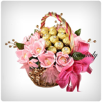 Ferrero Rocher Chocolate Flower Basket