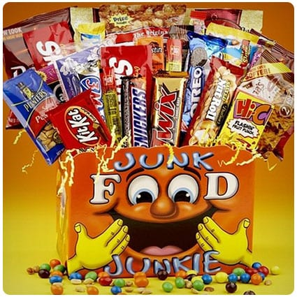 Junk Food Junkie Snack Food Gift Basket