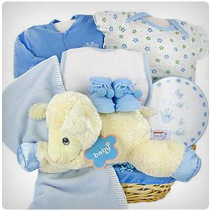 Lamby Nap Time Boy Gift Basket