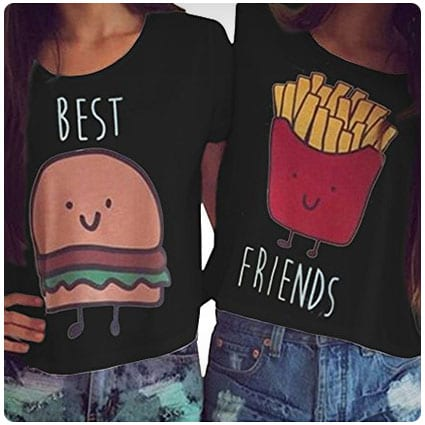 MOLFROA Best Friend Printed Crop Tops