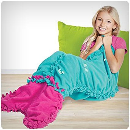 Make It Real Knot & Bling Mermaid Tail Blanket