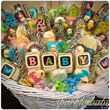 Nautical Baby Chocolate Basket