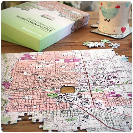 Personalized My Hometown Map Jigsaw Puzzle