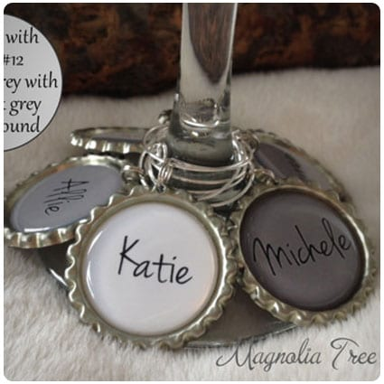 Personalized Wine Charm