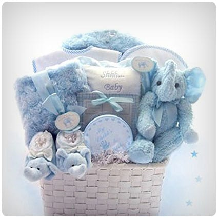 **New Baby Infant boy bath time baby shower gift set hamper basket Johnson/'s**
