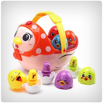 Amy & Benton Kids Musical Toy Hen and Chicken Eggs