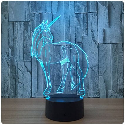 Circle Circle Unicorn 3D Optical Illusion Lamp