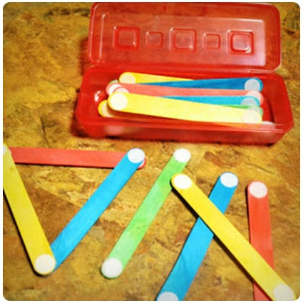 Diy Busy Bag: Velcro Sticks