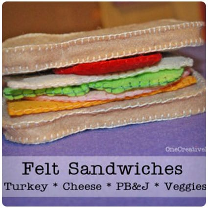 Diy Felt Sandwich and Freebie Patterns