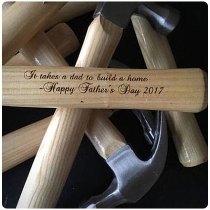 Father's Day Custom Engraved Hammer