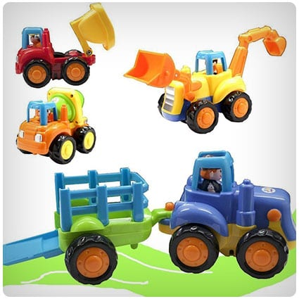 Friction Powered Construction Vehicles Set
