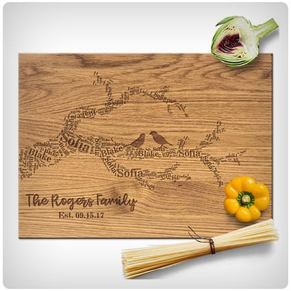 Froolu Family Tree Name Branches Cutting Board