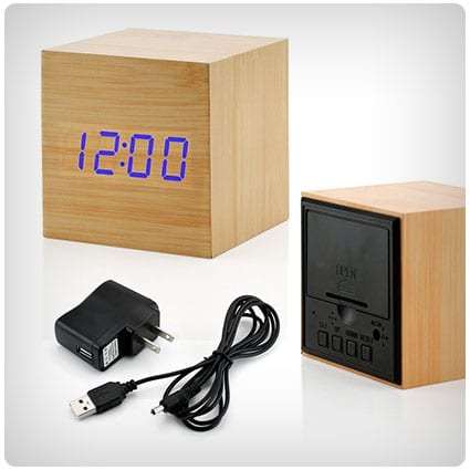 Gearonic Wooden Alarm Clock