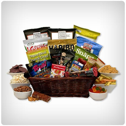 22 best gluten free gift baskets that are actually delicious gluten free snacking gift basket negle Gallery