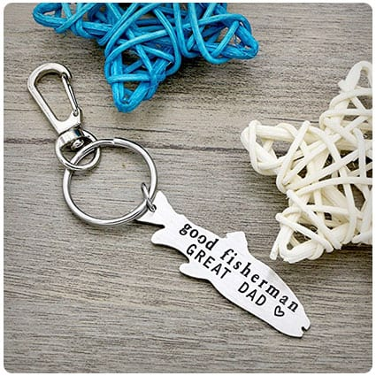 Good Fisherman Great Dad Keychain