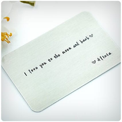 Hand Stamped Wallet Insert Card