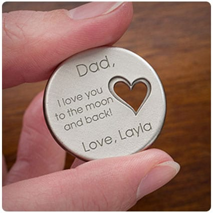 His Loving Heart Personalized Heart Pocket Token