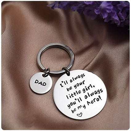I'll Always Be Your Little Girl Keychain