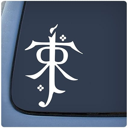 LOTR Tolkien Monogram Sticker Decal