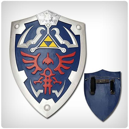 Link Hylian Zelda Shield with Grip & Handle