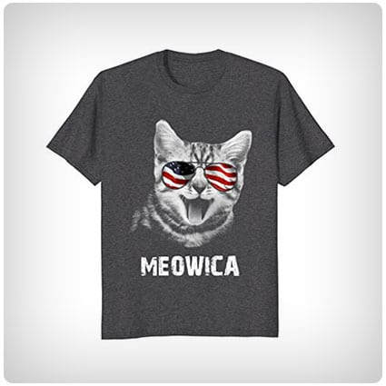 Meowica USA Cat T-Shirt