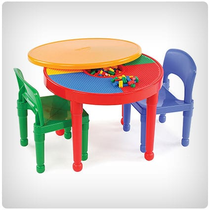 Tot Tutors LEGO-Compatible Activity Table Set