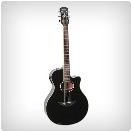 Yamaha Thinline Cutaway Acoustic-Electric Guitar