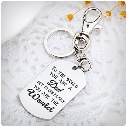 You Are The World Keychain