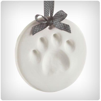 Pearhead Pet Paw Prints Dog Ornament Round