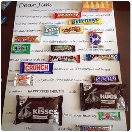 Diy Candy Retirement Poster