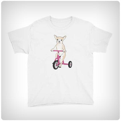 Chihuahua On A Tricycle T-shirt