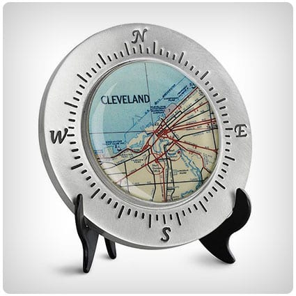 Custom Map Paperweight
