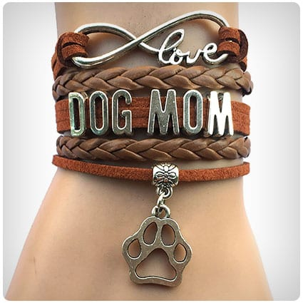 DOLON Infinity Love Dog Mom Paw Bracelet