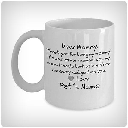Dear Mommy Personalized Dog Mom Mug