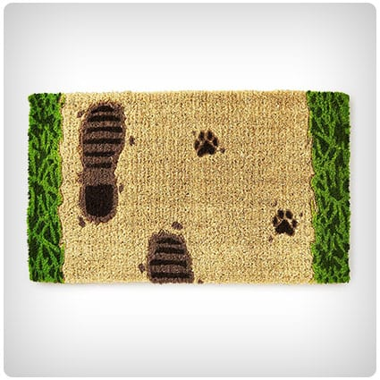 Footprints in the Mud Doormat