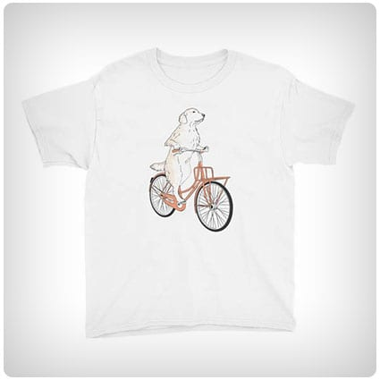 Golden Retriever On A Bike T-shirt
