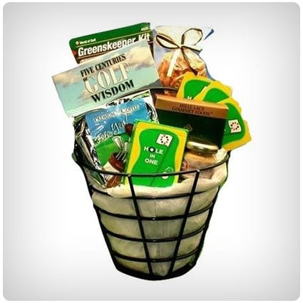 Golf Lover's Golfing Caddy Gift Basket