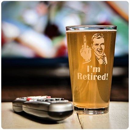 I'm Retired! Pint Glass