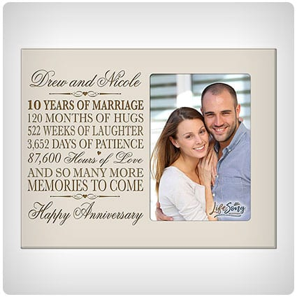 Personalized Ten Year Anniversary Frame