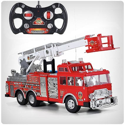 Prextex Rescue RC Fire Engine Truck