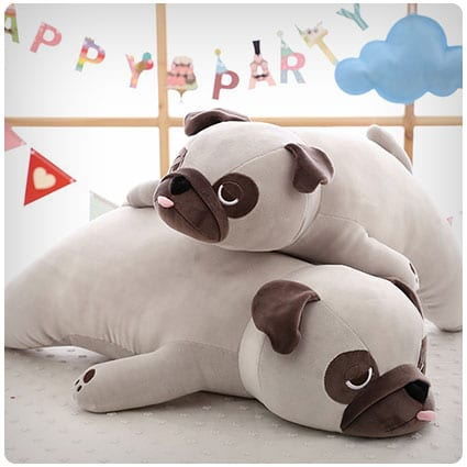 Pug Doll Lying Dog Plush