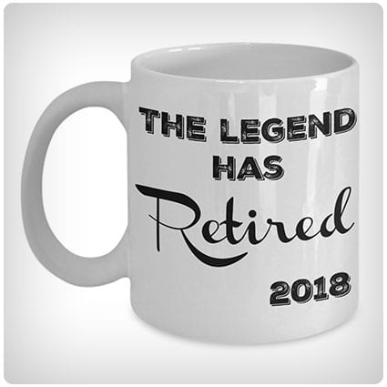 The Legend Has Retired 2018 Coffee Mug