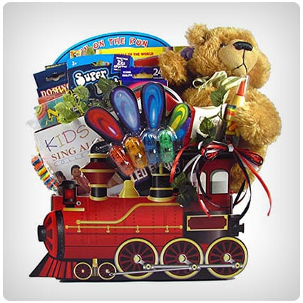 All Aboard Train Gift Basket