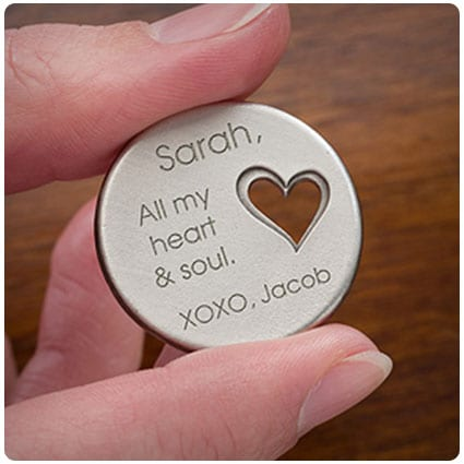 All My Love Personalized Heart Pocket Token