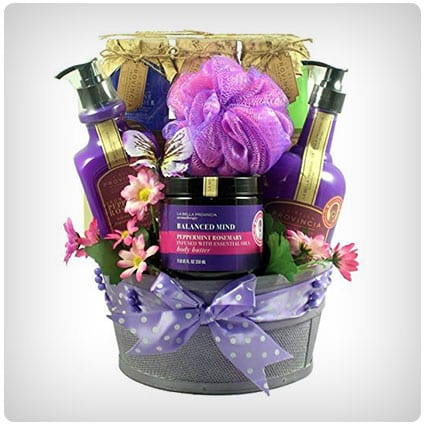 Aromatherapy Rosemary Peppermint Spa Basket